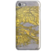Vintage Pictorial Map of The Gulf (1861) iPhone Case/Skin