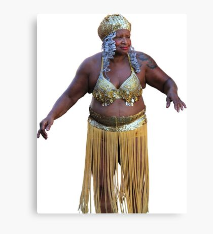 Sexy Belly Dancer Hula Girl Canvas Print