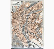 Vintage Map of Liège Belgium (1905) Unisex T-Shirt