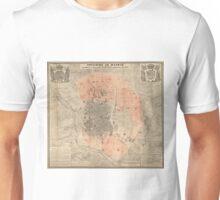 Vintage Map of Madrid Spain (1861) Unisex T-Shirt