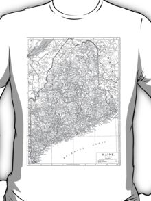 Vintage Map of Maine (1911)  T-Shirt