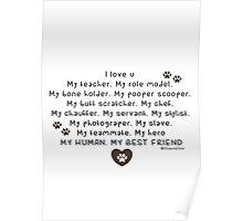 Pet words: love human Poster