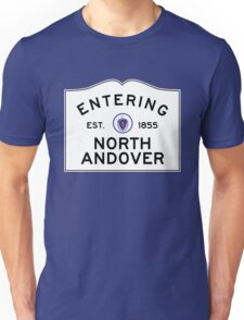 Entering North Andover - Commonwealth of Massachusetts Road Sign Unisex T-Shirt