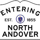 Entering North Andover - Commonwealth of Massachusetts Road Sign by IntWanderer