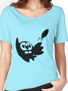 Rowlet Black Women's Relaxed Fit T-Shirt