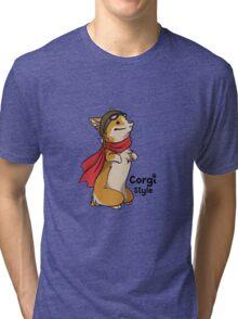 Corgi Style - Doggie Style Tri-blend T-Shirt