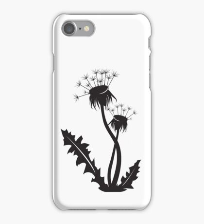 Dandelion silhouette iPhone Case/Skin