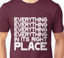EVERYTHING IN ITS RIGHT PLACE Unisex T-Shirt