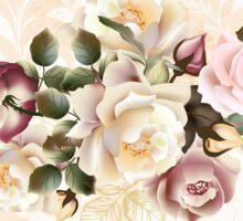 Cute vintage roses : Dark purple and elegant Pink Sticker