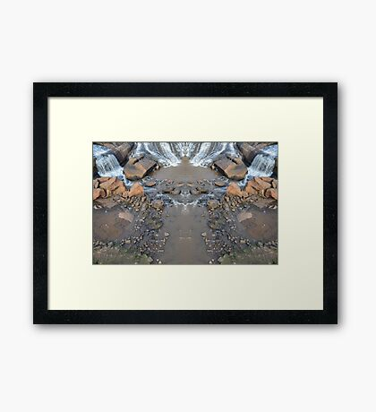 Mirror Falls Framed Print