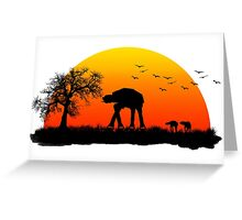 AT-AT. Left to roam free Greeting Card