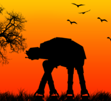 AT-AT. Left to roam free Sticker