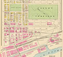 Vintage Map of Manchester NH (1892) (2) by BravuraMedia