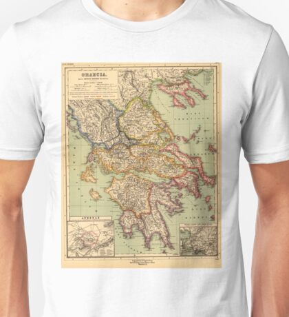 Vintage Map of Greece (1903)  Unisex T-Shirt