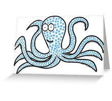 Blue-cubed octopus, tentacular Greeting Card