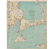 Vintage Map of Cape Cod (1917)  Photographic Print