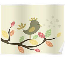 Bird on a tree Poster