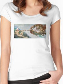 The Creation of Socialism Women's Fitted Scoop T-Shirt