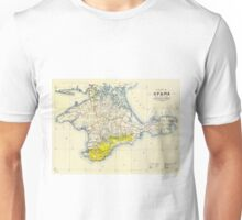 Vintage Map of Crimea (1922) Unisex T-Shirt