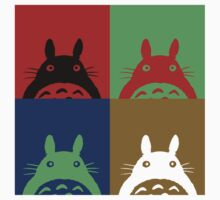 Warhol's Totoro Dark Version Baby Tee