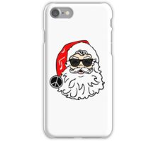 hippie santa claus peace sign funny merry christmas hippies peace and love holiday t shirts iPhone Case/Skin
