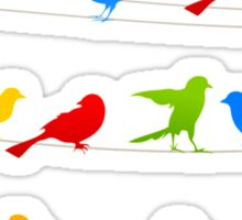 Bird on a wire Sticker