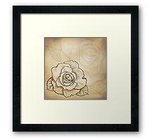 Sketch rose background Framed Print