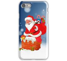 Cute Santa Claus with Gift Bag Christmas Snow Stars iPhone Case/Skin