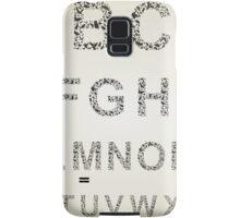 Bird the alphabet Samsung Galaxy Case/Skin
