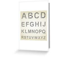 Bird the alphabet Greeting Card