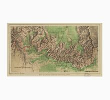 Vintage Map of The Grand Canyon (1926) T-Shirt
