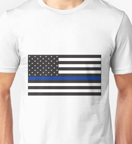 Blue Lives Matter Flag for Police Support Unisex T-Shirt