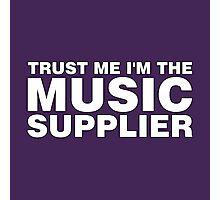 Music supplier (white) Photographic Print