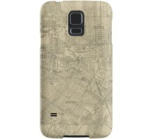Vintage Map of Downtown Houston (1913) Samsung Galaxy Case/Skin