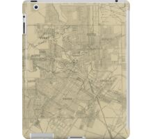 Vintage Map of Downtown Houston (1913) iPad Case/Skin