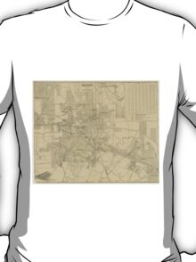 Vintage Map of Downtown Houston (1913) T-Shirt