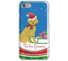Cute Yellow Lab Christmas Snow Globe iPhone Case/Skin