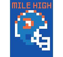 Broncos - Mile High 8 Bit Photographic Print