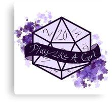 Play Like A Girl - Purple Canvas Print
