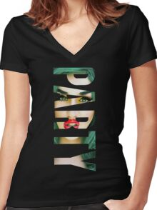 ADORE DELANO - PARTY Women's Fitted V-Neck T-Shirt