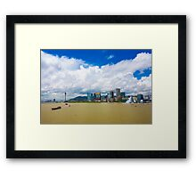 Macau cityscape Framed Print