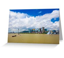 Macau cityscape Greeting Card