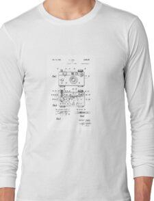 "Argus C-3 ""The Brick"" Vintage 35mm Film Camera Patent Drawing Long Sleeve T-Shirt"