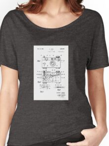 "Argus C-3 ""The Brick"" Vintage 35mm Film Camera Patent Drawing Women's Relaxed Fit T-Shirt"