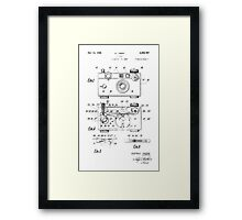 "Argus C-3 ""The Brick"" Vintage 35mm Film Camera Patent Drawing Framed Print"