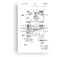"Argus C-3 ""The Brick"" Vintage 35mm Film Camera Patent Drawing Canvas Print"