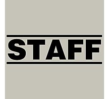 Staff (black) Photographic Print