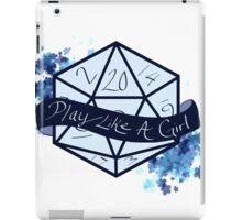 Play Like A Girl - Blue iPad Case/Skin