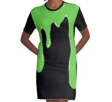 Have A Slimy Halloween Graphic T-Shirt Dress