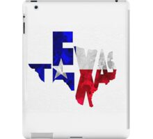 Texas Typographic Map Flag iPad Case/Skin